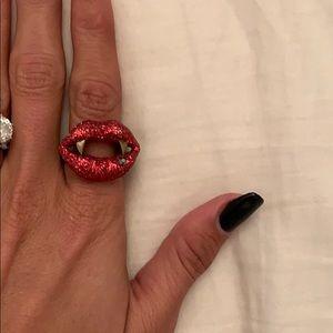 Betsey Johnson vampire ring